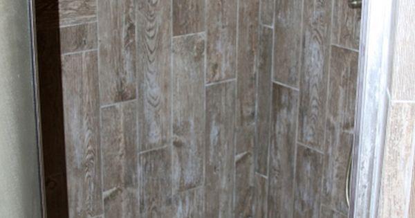 Barn Wood Looking Tile Shower Bing Images Industrial