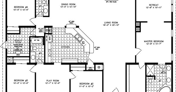 Simple square house plans the tnr 7604 manufactured for Wide open floor plans