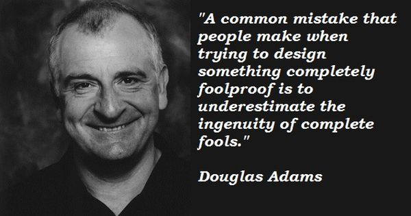 Douglas adams, The galaxy and Witty quotes on Pinterest