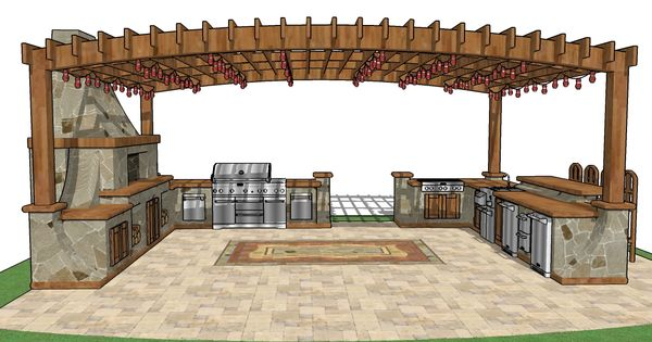 Diy outdoor kitchen plans free plan every aspect of the for Outdoor kitchen designs free