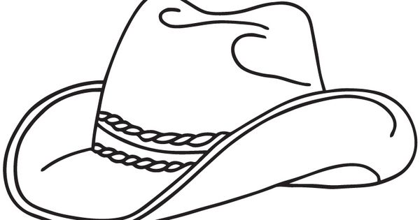 realistic cowboy hat free coloring pictures to print
