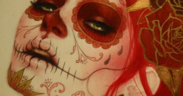 Day of the dead makeup. Sugar skull makeup idea.