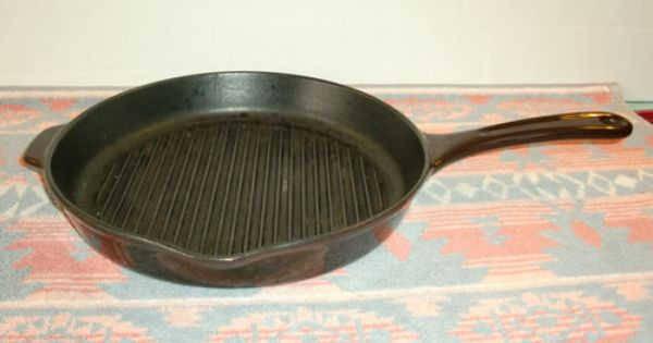 Copco Denmark Enameled Cast Iron Cooking Grill Frying Pan Skillet Model 115 E Ebay Cast Iron Cooking Cast Iron Enameled Cast Iron