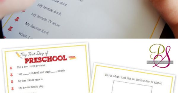 First Day of School Interviews for Kids (Free Printables)