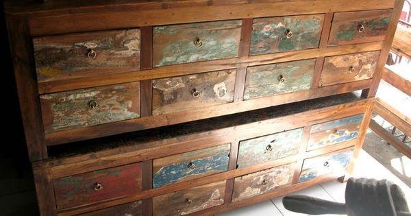 I Want One Of These Tv Benches From Recycled Boat Wood Furniture Company Bali Lively Up The