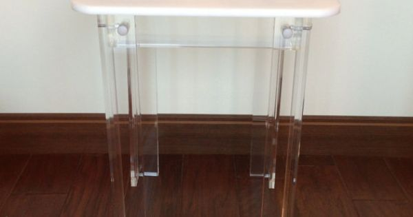 White Acrylic Side Table Home Furniture By DesignAcrylic