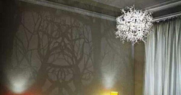 Forest Shadow Chandelier Diy Decorating Pinterest