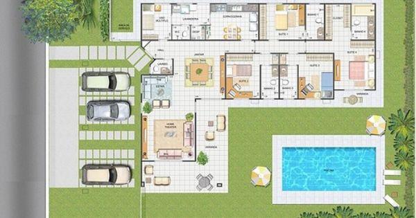 planos de casas de dos pisos con alberca