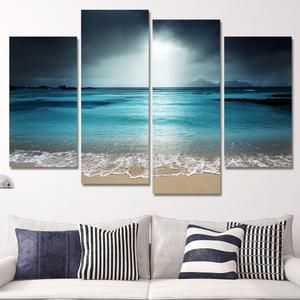 Great Wave Multi Panel Canvas Wall Art Beach Canvas Wall Art Beach Wall Art Canvas Wall Art