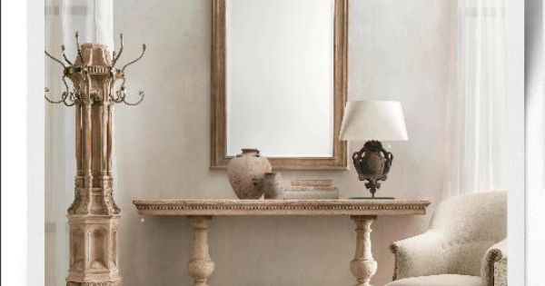Restoration hardware oak console entryway furniture smith foyer pinterest entryway - Restoration hardware entry table ...