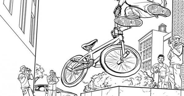 Bmx Colouring Pictures BMX Coloring Sheets kierondwyerworkblogstoryboards