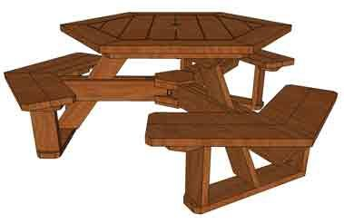 Hexagon Table Reg Optimized With Images Picnic Table Plans