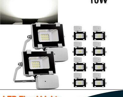 Sponsored Link 10pcs 10w Led Flood Light Outdoor Security Lamp Pir Motion Sensor Cool White Us Led Flood Flood Lights Led Flood Lights
