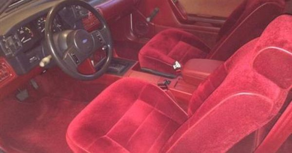 Mustang Center Console Arm Rest Pad Kit Scarlet Red 87 93