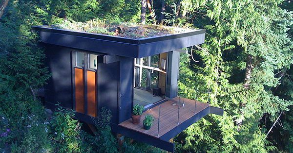 small houses | Tiny House as Quiet Home Office with Beautiful View