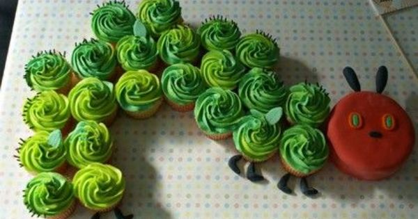 Caterpillar cupcakes.