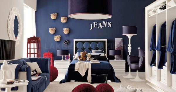 Red White And Blue Denim Themed Boys Room Jpeg 950 674 Pixels Kid S Room Pinterest Boys Bedroom Ideas And Bedroom Designs