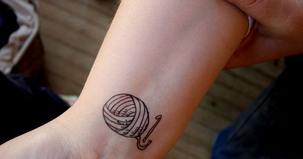 I'd change to knitting needles Crochet tattoo. Now this is dedication! Not
