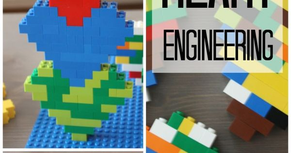 LEGO Heart Valentine's Day STEM Activity for Kids   For ...