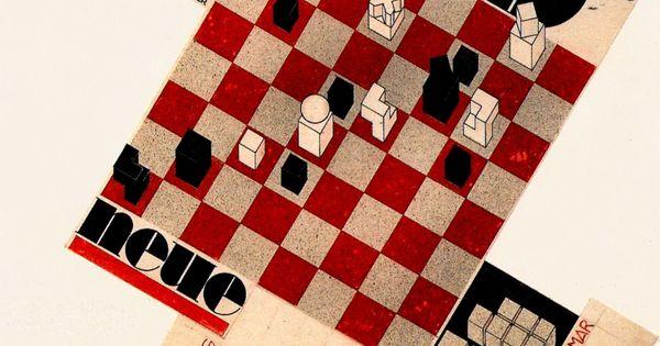 Weimar bauhaus chess 2 043 2 612 pixels illustration pinterest bauhaus weimar - Bauhaus chess board ...