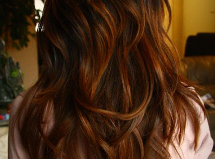 warm brown ombre. hair color for fall