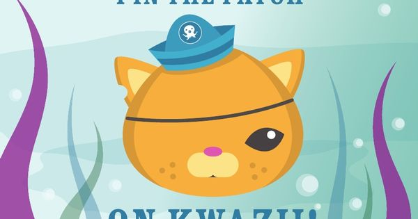 Pin the Patch on Kwazii - printable | Octonauts Birthday ...