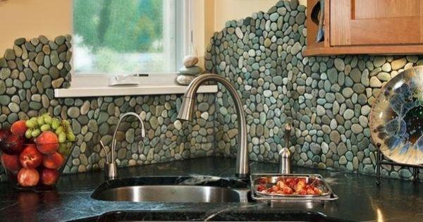 river rock kitchen backsplash 13 beautiful backsplash