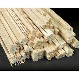 184 Piece Basswood Assortment Model Supplies Diy Dollhouse Furniture Wood