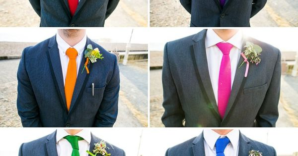 The ties aren't the colors I'm using but this is the look