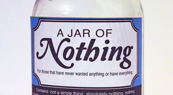 Clever image with jar of nothing printable label free