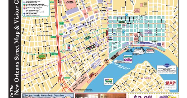 Eloquent image throughout printable walking map of new orleans