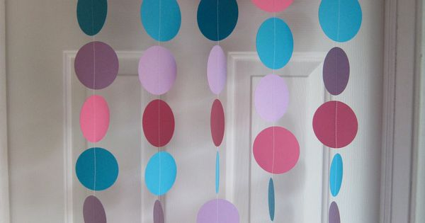 Paper Garland Pink Purple And Teal Decorations Abby