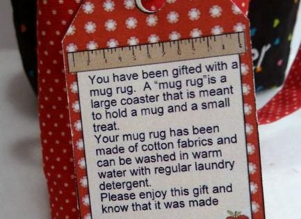 Teacher Mug Rug Beverage Pinterest Gift Tags Tags