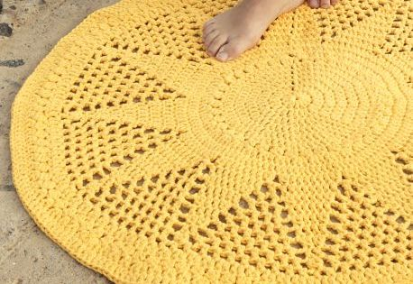 Craft Passions Crochet Free Pattern Crochet Rug This Blog An Crochet Home Decor