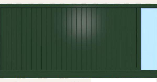 Portail Aluroy En Aluminium Remplissage Lames De 100 Mm Vitrage En Plexiglass Portail Et Cloture Portail Cloture