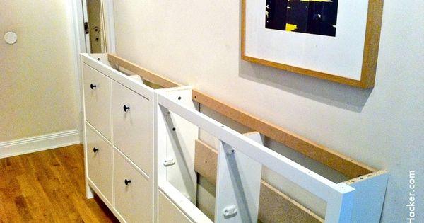 Ikea hemnes shoe cabinet hack diy projects pinterest for Ikea hemnes shoe cabinet hack