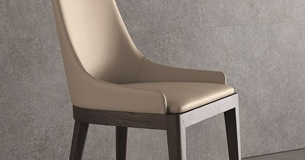 High-back Leather Chair Cleò Atelier Collection By