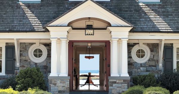 Country Front Exterior With Stone Entrance A B O D E