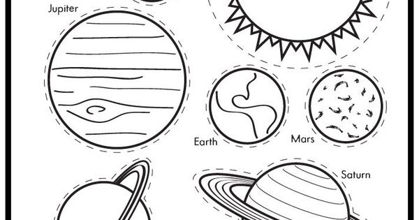 earth planet cutouts printables - photo #2