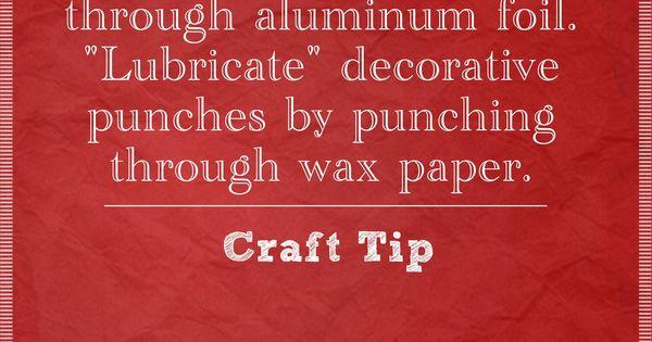 Scrapbook punch tip