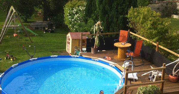 id e am nagement terrasse pour piscine hors sol am nagement piscine pinterest swimming. Black Bedroom Furniture Sets. Home Design Ideas