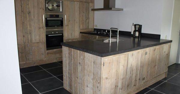 Steigerhouten keuken steigerhout pinterest eiland tafel keuken en keukens - Deco keuken ontwerp ...