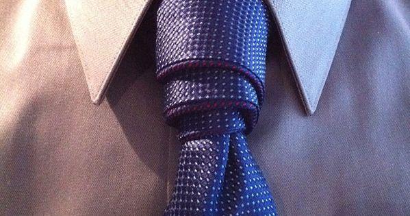 How to tie a Van Wijk Necktie Knot. Tied with a magnet tie by themagnetie.com