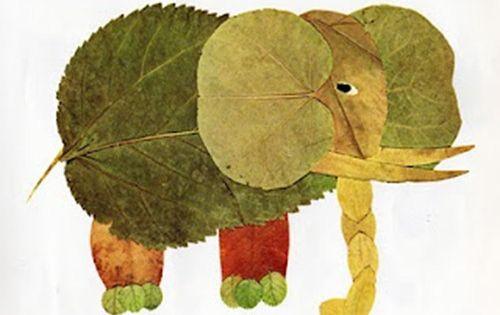 "Leaf Print Art... Would Go Well With Book ""Leaf Man"""