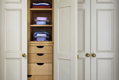 For our builtins built-in drawers in the closet by miles redd