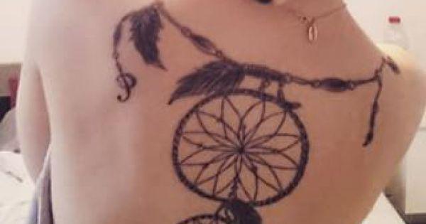 Grand Tatouage Attrape R Ve Dos Femme Tatouage Attrape Reve Dos Grand Tatouage Et Tatouages