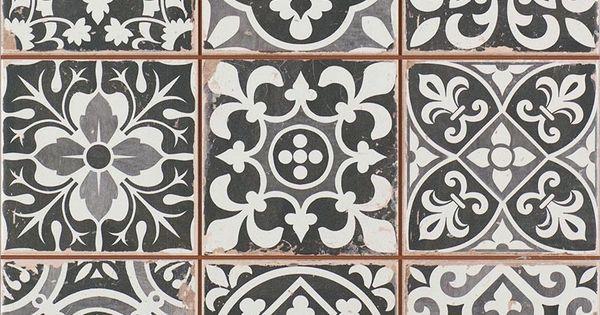 Carrelage ancien mat noir 33 x 33 cm fs1104007 gris for Acheter carrelage ancien