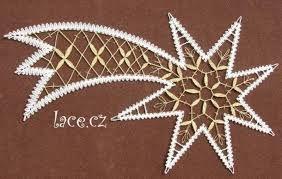 014 Klöppeln Klöppelbrief Stern 19cm  Brief ohne Rahmen und Einhänger