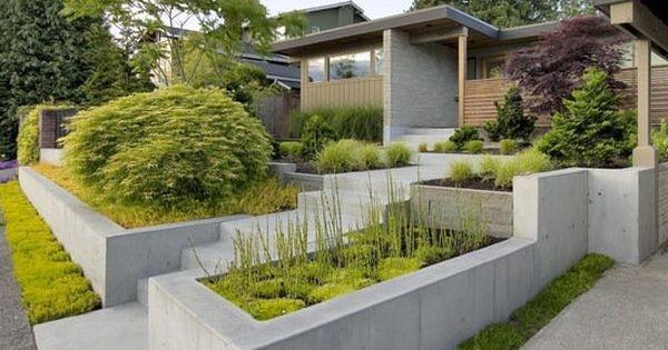 construire un mur de sout nement 84 id es jardin pratiques murs en b ton maison et design. Black Bedroom Furniture Sets. Home Design Ideas