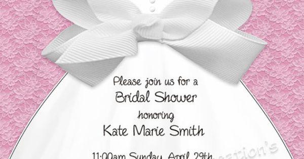 DIY Bridal Shower Invitation